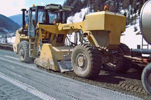 4. Stabilizzazione in loco del terreno disponibile con l'aggiunta di Nanoalps® System SOIL
